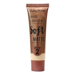 Base Líquida Soft Matte Bege Cor 2 HB8050 - Ruby Rose
