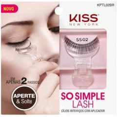 Cílios Postiços Kiss NY com aplicador So Simple Lash - 02