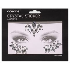 Crystal Sticker - Adesivos Cristais 3D - CS4 - Océane