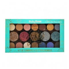 Paleta de Sombras e Glitter Party Girls - HB 1047 - Ruby Rose