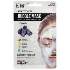 Máscara Facial Bubble Purificante Preta - Kiss NY