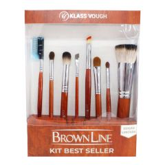 Kit de Pincéis Brown Line - Best Seller - Klass Vough