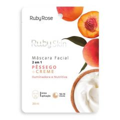 Máscara Facial - Pêssego e Creme - Ruby Rose