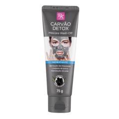Máscara Facial de Limpeza RK by Kiss Charcoal Wash Off - 75g