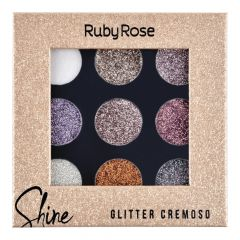 Paleta De Sombra Shine Glitter Light HB 8407G - Ruby Rose