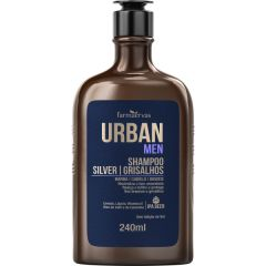 Shampoo Silver / Grisalhos IPA 240ml - Urban Men - Farmaervas