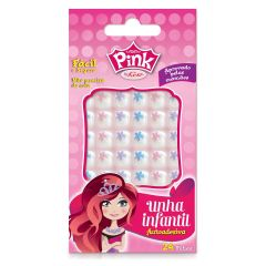 Unhas Kiss New York Pink Infantil Pop Princess - Flor