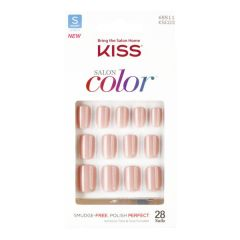 Unhas Postiças Kiss New York Salon Color Curta - Bonita