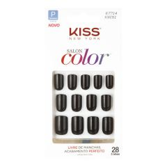 Unhas Postiças Kiss New York Salon Color Curta - Chic