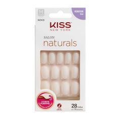 Unhas Postiças Kiss New York Salon Natural Medio Oval