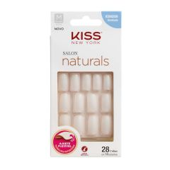 Unhas Postiças Kiss New York Salon Natural Medio Quadrado
