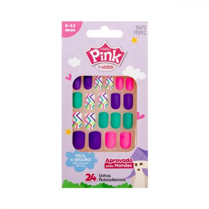 Unhas Pink Infantil Pop Princess - Kiss New York