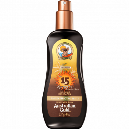 Protetor Solar Spray Gel Instant Bronzer FPS 15 - 237 ml - Australian Gold