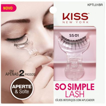 Cílios Postiços Kiss NY com aplicador So Simple Lash - 01