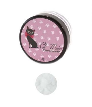 Glitter Iluminador Branco - Cat Make