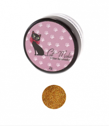 Glitter Iluminador Ouro - Cat Make
