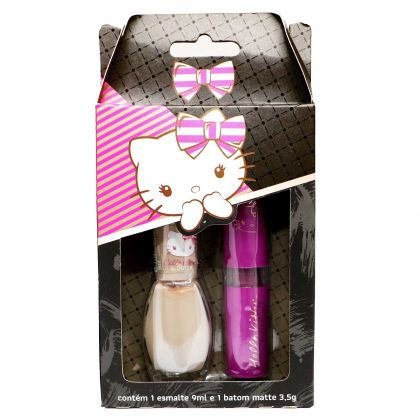Kit de Esmalte e Batom Hello Kitty By Dote - Cookie