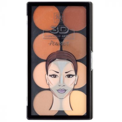 Paleta de Contorno em pó 3D Contour Artist Powder Rk By Kiss - Light Medium