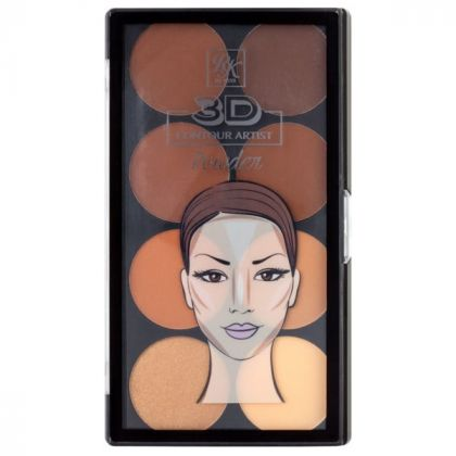 Paleta de Contorno em pó 3D Contour Artist Powder Rk By Kiss - Medium Dark