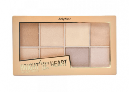 Paleta de Iluminador Bright from the Heart HB 7516 - Ruby Rose