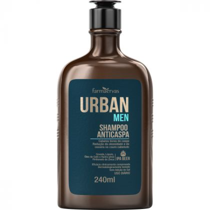 Shampoo Anticaspa IPA 240ml - Urban Men - Farmaervas