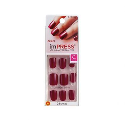 Unhas Postiças Autocolantes Color Curta Kiss New York - Easy Breezy