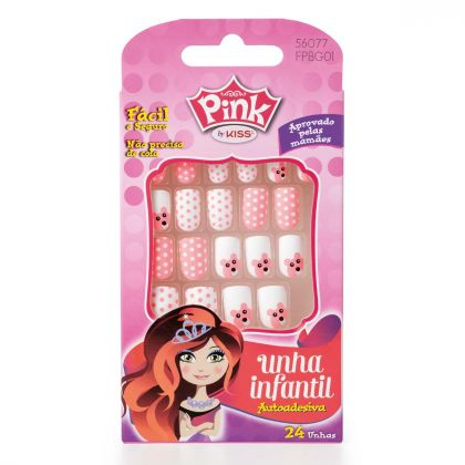 Unhas Kiss New York Pink Infantil Color Change